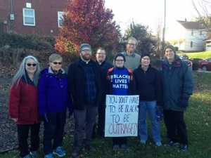 Students and faculty from Wartburg Theological Seminary attending the Black Lives Matter march in Dubuque, Iowa