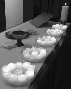 At St. Stephen Lutheran Church in Cedar Rapids, Iowa, each candle on the altar represented one life lost during the Orlando nightclub shooting on June 12